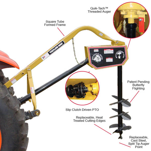 Post Hole Digger 12inch Auger (+$925)